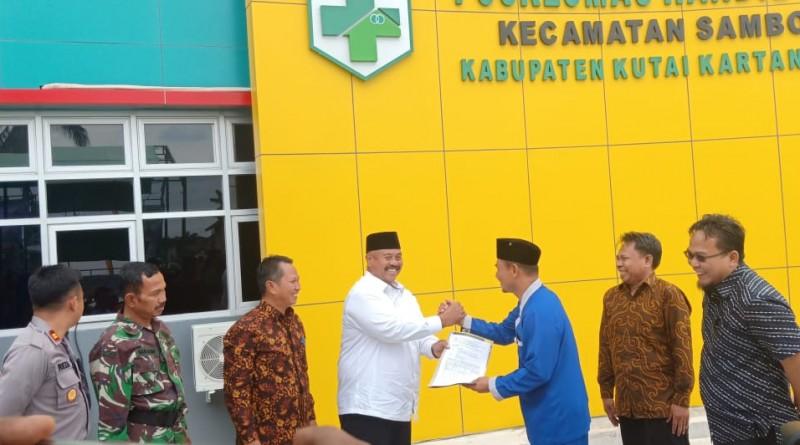 Peresmian Gedung Baru Puskesmas Handil Baru Oleh Bupati Kukar